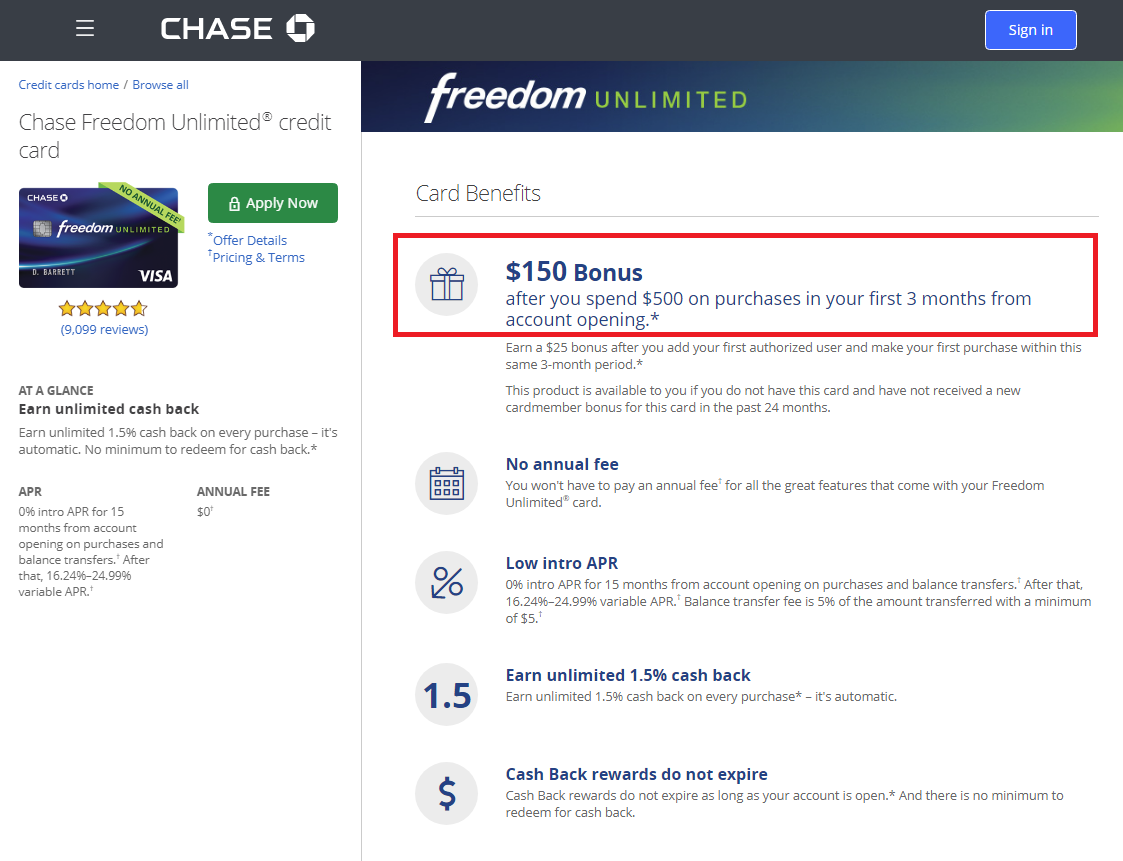chase freedom unlimited credit card benefits